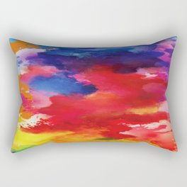 Watercolor Summer Rectangular Pillow