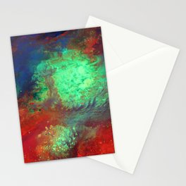 """Titan"" Mixed media on canvas, abstract art painting designs, contemporary artist colorful design Stationery Cards"