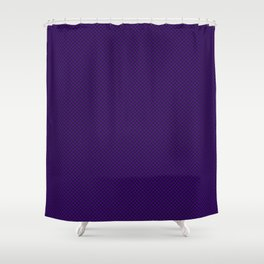Houndstooth Black & Purple small Shower Curtain
