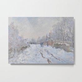 Snow Scene at Argenteuil Metal Print