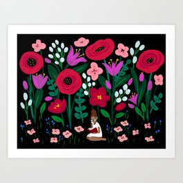 Little Reader Art Print