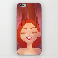 redhead iPhone & iPod Skins featuring redhead by Alevan