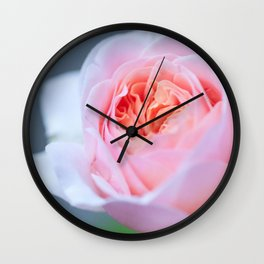 Forever in Love - Pink Rose #1 #decor #art #society6 Wall Clock