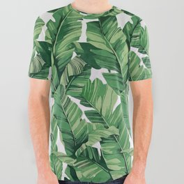 Tropical banana leaves IV All Over Graphic Tee