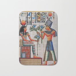 Isis On Papyrus Bath Mat