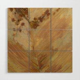 Peach Leaf Wood Wall Art