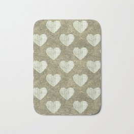 Hearts Motif Pattern Bath Mat