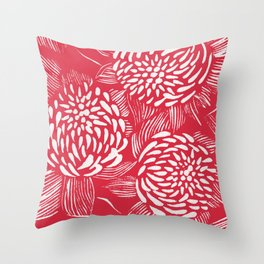 Waratahs Red Throw Pillow