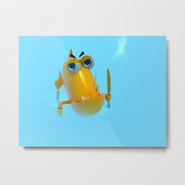 Hungry! The Dangerous Fish! NoLettering Metal Print