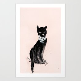 Spoiled Kitty Lifestyle Illustration Art Print