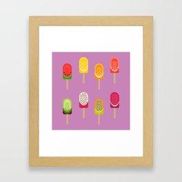 Fruit popsicles - pink version Framed Art Print