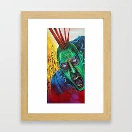 Punk Rock Zombie Framed Art Print