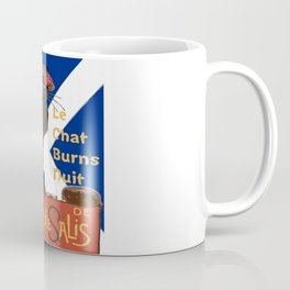 Le Chat Burns Nuit Haggis Dram Scottish Saltire Coffee Mug
