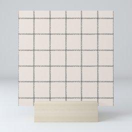 French Cream Linen Check Mini Art Print