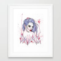 splatter Framed Art Prints featuring Splatter  by Rose Ellen Swenson