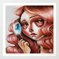 Soul Gem :: Red Headed Scamp Art Print