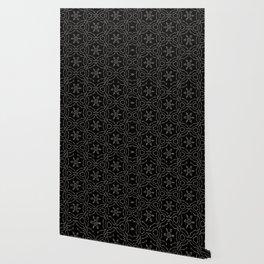 Antique Black and Gold Pattern Design Wallpaper
