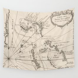 Vintage Map of The Bahamas (1764) Wall Tapestry