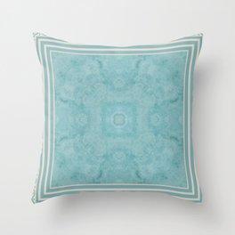 Turquoise Square Pattern Stone Throw Pillow
