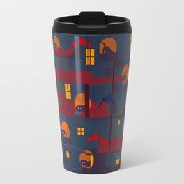 black dog's adventure Travel Mug