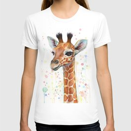 Giraffe Baby Watercolor T-shirt
