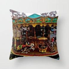 Merry Go Round Paree Throw Pillow