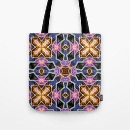 Crystal Diamonds Geometric Mandala Tote Bag