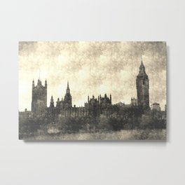 Westminster Bridge Vintage  Metal Print