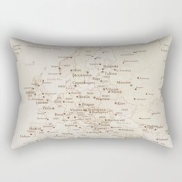 Vintage style map of Europe - order PRINTS in sizes L and XL only Rectangular Pillow