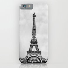 Eiffel tower, Paris France in black and white with painterly effect iPhone 6 Slim Case