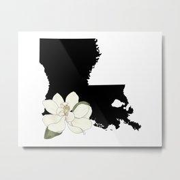 Louisiana Silhouette Metal Print