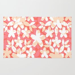 Floral pattern #living coral Rug
