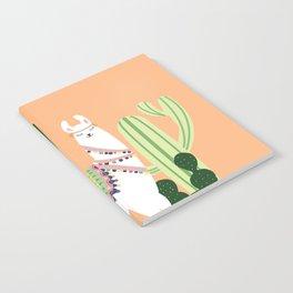Cute Llama with Cactus Notebook