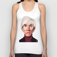 celebrity Tank Tops featuring Celebrity Sunday ~ Andy Warhola by rob art | illustration