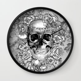 Natural Death BW Wall Clock
