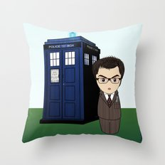 Kokeshi Dr. Who Throw Pillow
