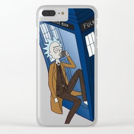 Fuck the police box Clear iPhone Case