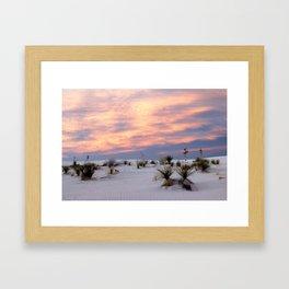 Tularosa Red Framed Art Print