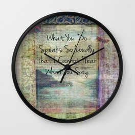 Emerson inspirational quote about life Wall Clock