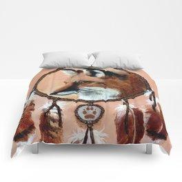 Fox Medicine Wheel Comforters