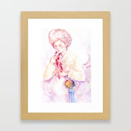 Year of the Rooster - Zodiac & Hanbok Framed Art Print