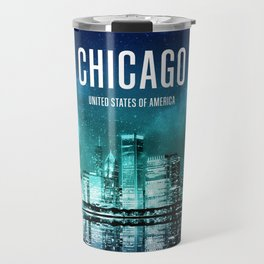Chicago Wallpaper Travel Mug
