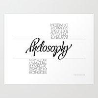 philosophy Art Prints featuring Philosophy by John Langdon