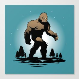 Bigfoot Silhouette Illustration. Canvas Print