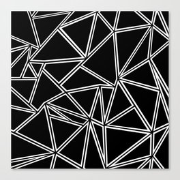 Shattered Ab Zoom Canvas Print