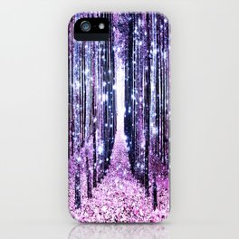 Magical Forest Path Lavender Pink Periwinkle iPhone Case