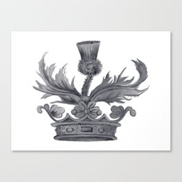 Watercolor Outlander Crown & Thistle Canvas Print