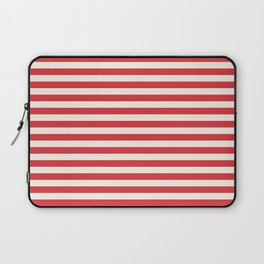 Poppy Red Seashell Stripe Laptop Sleeve