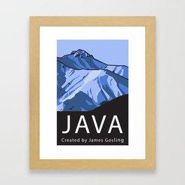 Java Programming Landscape poster Framed Art Print