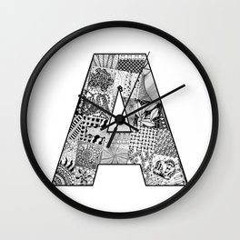 Cutout Letter A Wall Clock